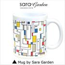 客製 手作 彩繪 馬克杯 Mug 時尚 撞色 普普風 圖騰 咖啡杯 陶瓷杯 杯子 杯具 牛奶杯 茶杯