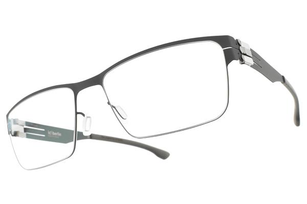 Ic! Berlin光學眼鏡 HANIA L. BOULDER SPRUCE (霧灰-霧綠) 德國薄鋼輕薄款 # 金橘眼鏡
