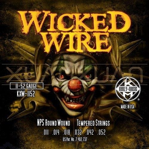 ☆ 唐尼樂器︵☆ Kerly Wicked Wire 系列小丑弦/冰火弦 KXW-1152 (11-52)美製電吉他弦