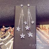 《Caroline》★韓國官網熱賣花朵長款甜美浪漫風格時尚流行耳環69970