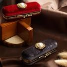 精致高檔絲絨口紅盒復古口紅保護殼禮物包裝...