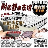 【布拉琪床墊】諾貝達 三線獨立筒床墊 科技乳膠強化封邊 2.54cm珍珠備長炭泡棉款 防側邊下滑