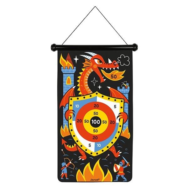【法國Janod】磁性趣味標靶-騎士大戰噴火龍