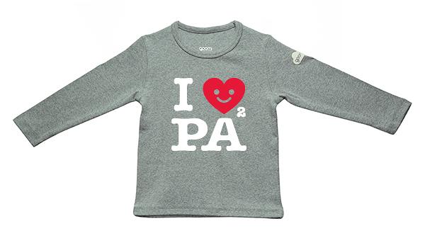 GOOMI台灣第一文創童裝【I Love PaPa 】長袖T恤