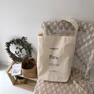 帆布袋 字母 帆布袋 休閒 單肩包 手提袋 環保購物袋--手提/單肩【SPE93】 BOBI  07/19
