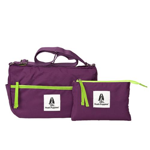 Backbager 背包族【 Hush Puppies】FOLDING 摺疊 可收納 折疊 斜背包/側背包/隨身包_紫色