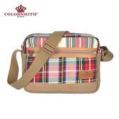 【COLORSMITH】LD・方型斜背包-經典紅格紋・LD1126-A-RH