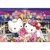 小花花日本精品Hello Kitty&Daniel丹尼爾 結婚系列巴黎鐵塔煙火拼圖 1000片預購