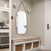 歐式貼牆方形鏡子壁掛穿衣鏡門廳全身鏡試衣鏡子落地鏡半身鏡掛鏡 『名購居家』igo