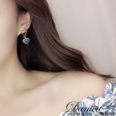 耳環 現貨 韓國少女簡約甜美幾何愛心垂墜925銀針耳環 S93006 批發價 Danica 韓系飾品 韓國連線