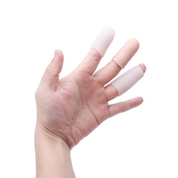 硅膠防干裂保濕手指保護套指甲寫字受傷疼痛防護指套腳趾摩擦疼痛  薔薇時尚
