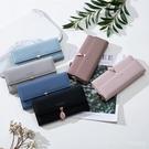 卡包錢包皮夾2020新款日韓簡約時尚長款女士折疊多功能大容量手拿 LannaS