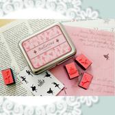 【00472】 韓國可愛鐵盒DIY印章組 芭蕾舞 仙女 貓咪 珠寶 森林動物 孩童 小鳥 馬戲團