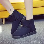 新款平底雪地靴加厚防水短靴學生短筒靴女加絨冬季百搭女靴子 芊惠衣屋