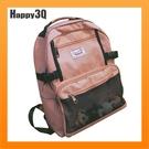 手提手把雙肩包旅行包後背包書包網紗拉鍊包學院風大學生書包-粉/白/黑/紅【AAA2675】預購