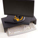 360度 桌上型旋轉伸縮架 電腦螢幕架 多用途空間置物架 DIY桌上收納架《Life Beauty》