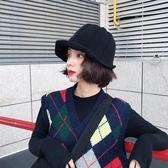 特賣盆帽漁夫帽子女士秋冬盆帽韓國荷葉邊鋼絲針織保暖毛線帽日繫百搭禮帽