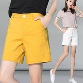 五分褲 短褲高腰闊腿中褲顯瘦加肥加大碼胖MM寬松薄款四分褲休閒褲