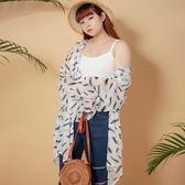 Poly Lulu 波西米亞羽毛透膚連帽罩衫-白【93090043】