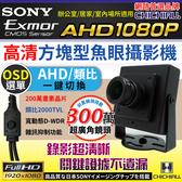 AHD 1080P SONY 200萬豆干型魚眼廣角2.8mm監視器攝影機