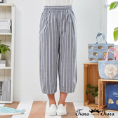 【Tiara Tiara】百貨同步新品aw  圓點凸紋鬆緊腰長褲(藍/黃)