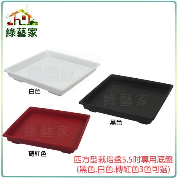 【綠藝家015-F12】四方型栽培盆5.5吋專用底盤(黑色.白色.磚紅色3色可選)