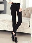 打底褲 黑色外穿打底褲女春秋冬鉛筆新款高腰顯瘦緊身小腳魔術褲 萊俐亞