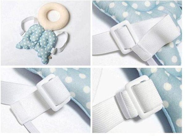 嬰兒用品 天使翅膀 寶寶頭部防撞保護墊 護頭枕 胸前背帶扣環 寶貝童衣