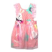 【BlueCat】小白兔粉色紗裙 兒童圍裙