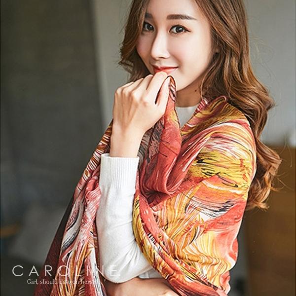 《Caroline》★ 六色可選圍巾秋冬百搭必備款 秋冬新款時尚保暖圍巾70025