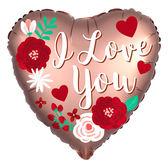 18吋愛心鋁箔氣球(不含氣)-玫瑰金我愛你