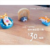 CARMO獨家地中海悠閒小狗微景觀/狗狗公仔(一組)【A029003】