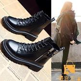 馬丁靴女鞋子加絨英倫風百搭短靴子【慢客生活】
