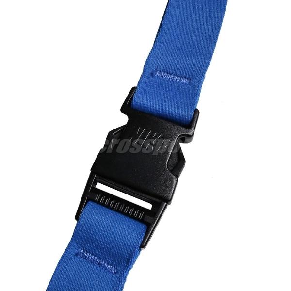 Nike 識別證吊帶 Lanyard 藍 白 男女款 掛繩 基本款 【ACS】 NIA1741-3NS