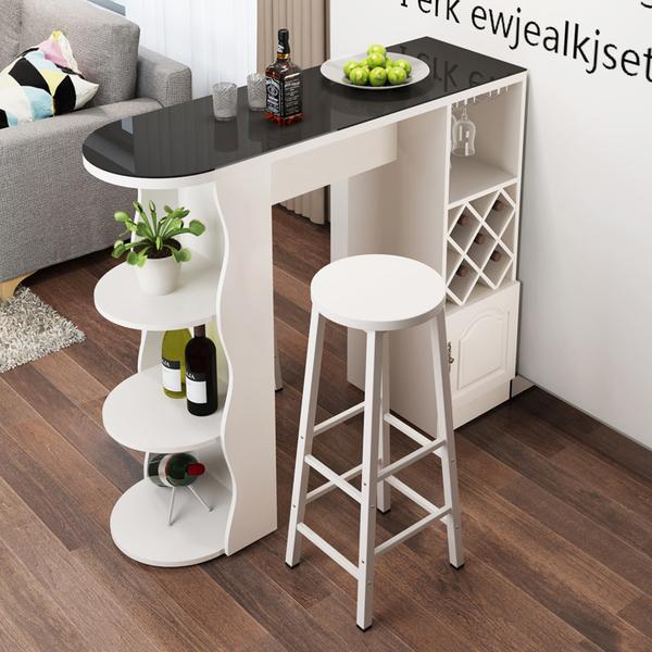 家用吧台桌 簡約現代咖啡桌 酒櫃 客廳餐廳隔斷櫃 轉角簡易靠牆歐式門酒櫃