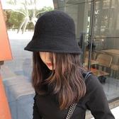 針織帽子女冬天保暖加厚絨絨日系羊毛帽韓版百搭純色針織漁夫帽秋 居享優品