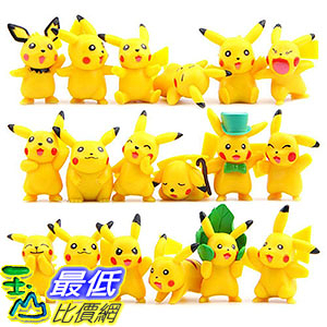[106美國直購] OliaDesign B01M29RVL2 Pokemon Pikachu Action Figures Toy (Lot of 18 Piece), 1.8吋 精靈寶可夢周邊