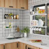 現貨組裝廚房置物架免打孔伸縮收納放鍋架子水槽櫥柜架【奈良優品】