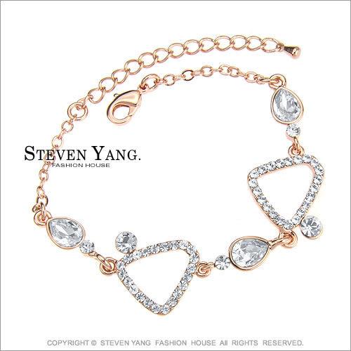 手鍊STEVEN YANG正白K飾「普普風情」鋯石 精鍍玫瑰金
