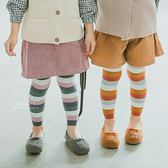 北歐色系拚色內搭褲襪 童襪 襪子