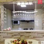 S型歐式鐵藝紅酒杯架倒掛創意懸掛酒杯架葡萄酒架吊杯架吧台擺件 長55寬19