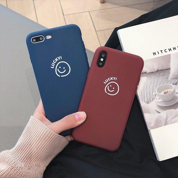 【SZ14】韓風簡約笑臉全包軟殼 iphone xs max 手機殼 iphone 7 plus手機殼 iphone 6s plus 手機殼 XR