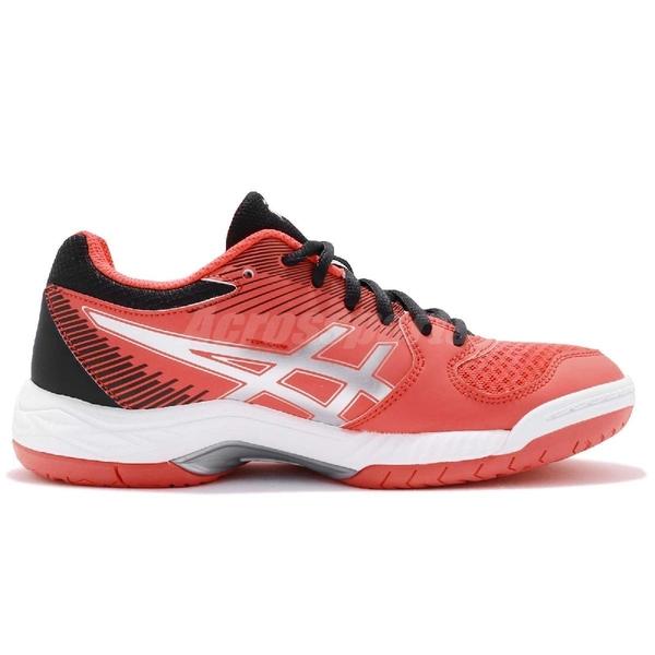 【五折特賣】Asics 排羽球鞋 Gel-Task 紅 銀 女鞋 低筒 運動鞋 基本款【PUMP306】 B754Y3090