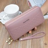 新款歐美女士錢包女長款女式多功能皮夾子女款雙拉鏈手拿包錢夾潮