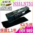 ASUS 華碩 電池(原廠)- A32N1405,N551, N751,N551J, N551JB, N551JK, N551JM,N551JN, N551JQ, N551JX, N551JW