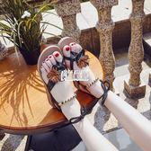 快速出貨 夏新款正韓羅馬平底學生防滑夾趾簡約夾腳百搭沙灘chic女涼鞋