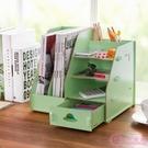 辦公室桌面文具文件收納盒 抽屜式化妝品置物架木質化妝盒
