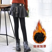 女童打底褲加絨加厚冬裝外穿洋氣裙褲2019新款兒童褲裙假兩件褲子-ifashion