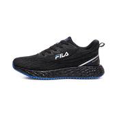 FILA 透氣輕量 男飛織布慢跑鞋 黑色 1J950V008 【KAORACER】
