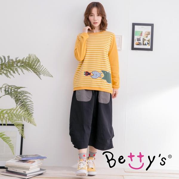 betty's貝蒂思 笑臉口袋縫飾長裙(黑色)